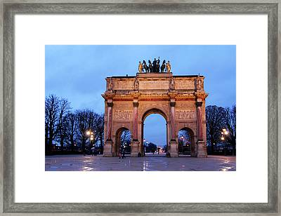 France, Paris Arc De Triomphe Du Framed Print