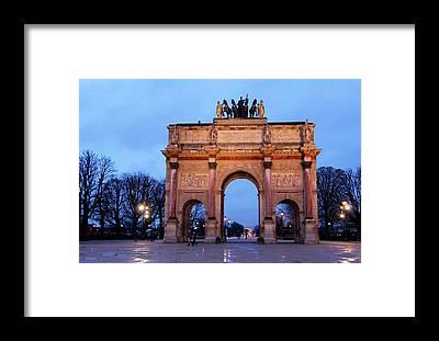 Arc De Triomphe Du Carrousel Framed Prints