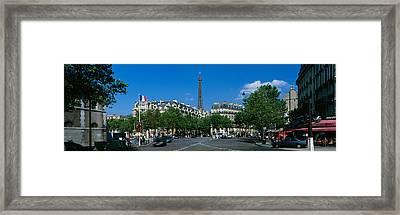 France, Paris, Avenue De Tourville Framed Print by Panoramic Images