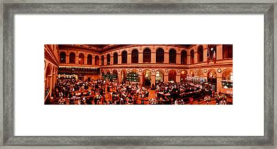 France, Paris, Bourse Stock Exchange Framed Print by Panoramic Images