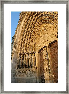 France, Paris Door Arches With Carved Framed Print