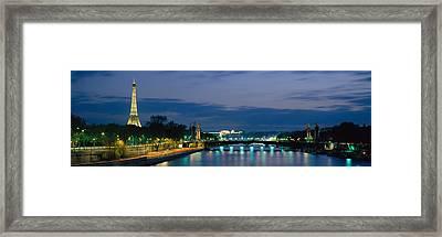 France, Paris, Eiffel Tower , Seine Framed Print