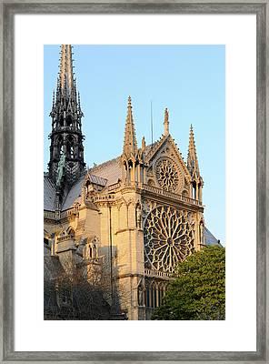 France, Paris Facade Of Notre Dame Framed Print