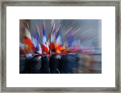 France, Paris Military Ceremony Framed Print by Jaynes Gallery