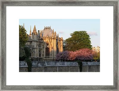 France, Paris Notre Dame Cathedral Framed Print