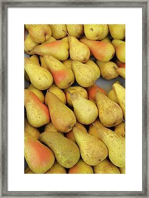 France, Paris Pears, Thursday Market Framed Print