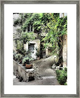 France, Provence, Lacoste Framed Print by Julie Eggers