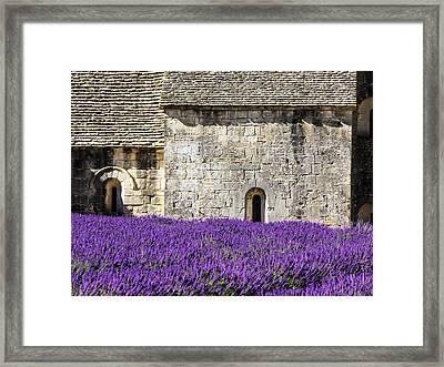 France, Provence, Senanque Abbey Framed Print