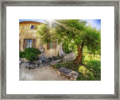 France, Provence, Sunrays Streaming Framed Print