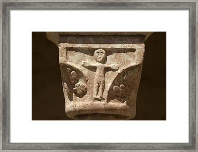 France. Saint G�nis-des-fontaines Framed Print
