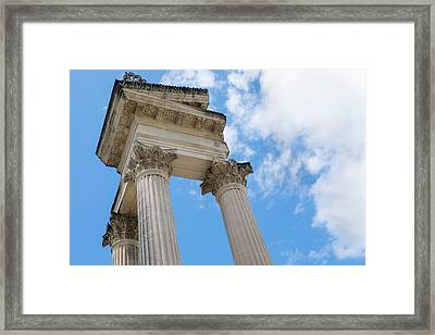 France, St Remy, Glanum, Fortified Framed Print by Emily Wilson