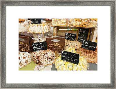 France, St Remy Nougat Candy Framed Print by Emily Wilson