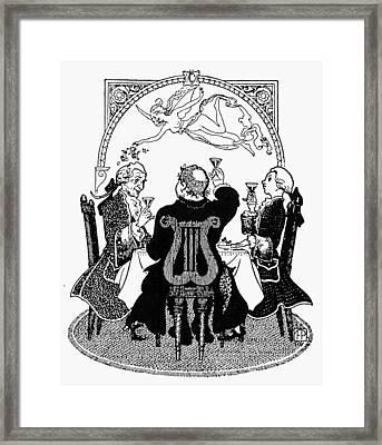 France Toasting Framed Print by Granger
