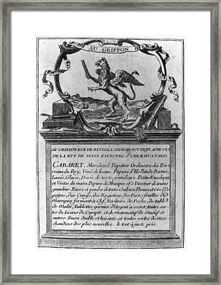France Trade Card, 1780s Framed Print by Granger