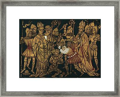 France Trial By Combat Framed Print by Granger