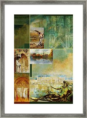 France Unesco World Heritage Poster Framed Print by Catf