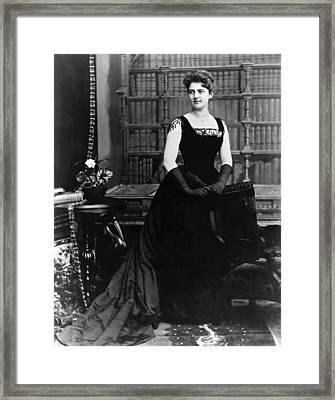 Frances Folsom Cleveland Framed Print by Underwood Archives