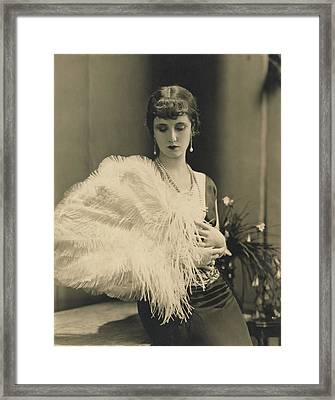 Frances Howard Holding An Ostrich Feather Fan Framed Print