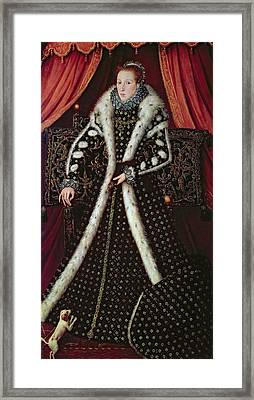 Frances Sidney, Countess Of Sussex, C.1565 Panel Framed Print