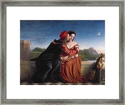Francesca Da Rimini, Exh. 1837 Oil On Canvas Framed Print by William Dyce
