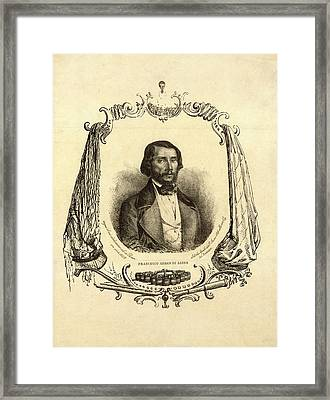 Francesco Arban Di Lione, Head-and-shoulders Portrait Framed Print