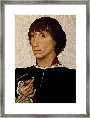 Francesco D Este Framed Print by Rogier van der Weyden