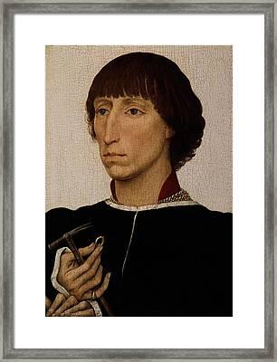Francesco Deste Born About 1430, Died Framed Print by Rogier van der Weyden