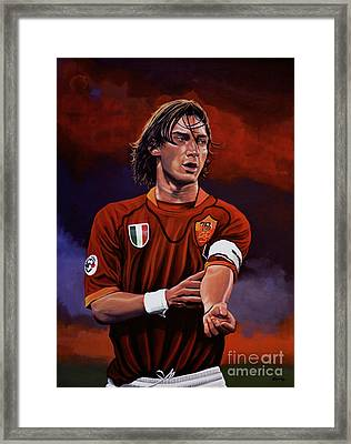 Francesco Totti Framed Print by Paul Meijering