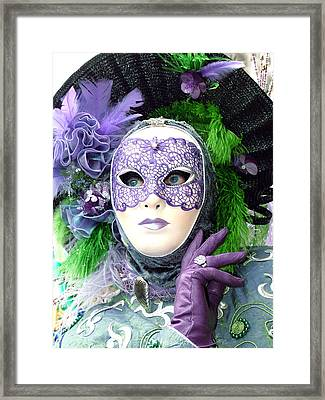 Framed Print featuring the photograph Francine's Purple Glove by Donna Corless