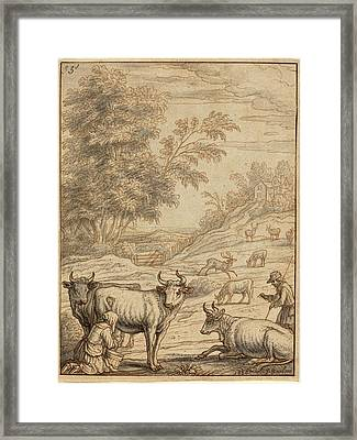 Francis Barlow English, 1626 - 1702 Or 1704 Framed Print by Quint Lox