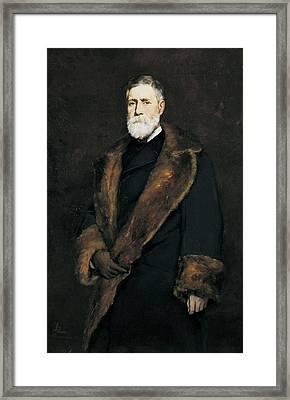Francis Boott, 1881 Oil On Canvas Framed Print by Frank Duveneck