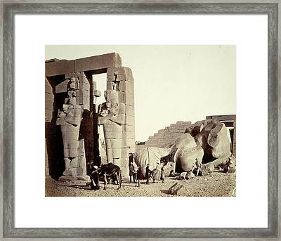 Francis Frith, The Ramasseum Of El-kurneh Framed Print by Quint Lox