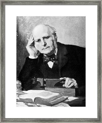 Francis Galton Framed Print by American Philosophical Society