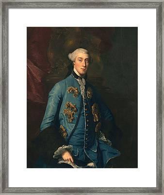 Francis Hastings, Earl Of Huntington Framed Print by Sir Joshua Reynolds