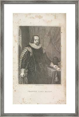 Francis Lord Bacon Framed Print