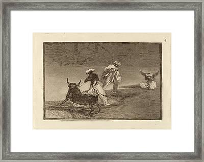 Francisco De Goya, Capean Otro Encerrado  They Play Another Framed Print by Quint Lox