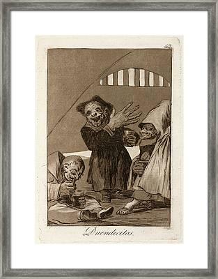 Francisco De Goya, Duendecitos Hobgoblins Framed Print by Litz Collection