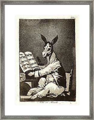 Francisco De Goya Spanish, 1746-1828. Asta Su Abuelo Framed Print by Litz Collection