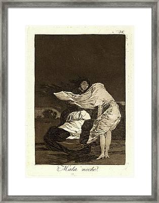 Francisco De Goya Spanish, 1746-1828. Mala Noche. A Bad Framed Print by Litz Collection