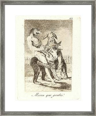 Francisco De Goya Spanish, 1746-1828. Miren Que Grabes Look Framed Print by Litz Collection