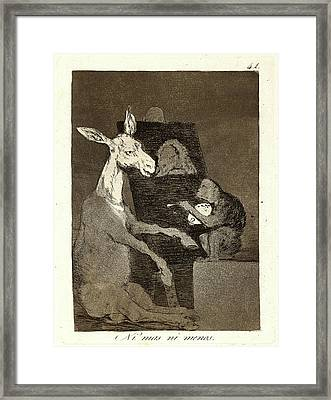 Francisco De Goya Spanish, 1746-1828. Ni Mas Ni Menos Framed Print by Litz Collection