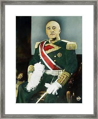 Francisco Franco (1892-1975) Framed Print
