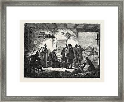 Franco-prussian War An Ambulance The Aftermath Framed Print by French School