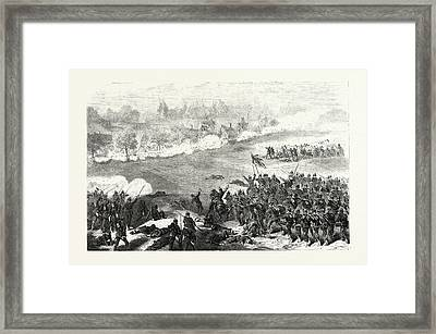 Franco-prussian War Attack Of Sainte-marie-aux-oak Framed Print