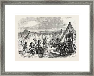 Franco-prussian War Camp Of Mac Mahon Converted To An Framed Print by French School