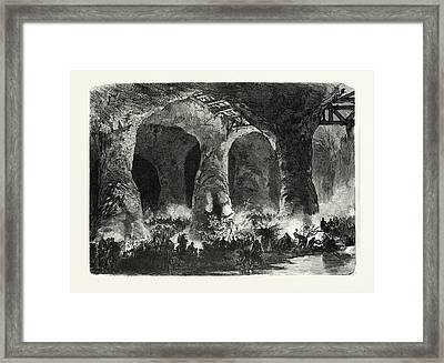Franco-prussian War Camp Of The 6th 7th And 8 Mobile Guard Framed Print by French School