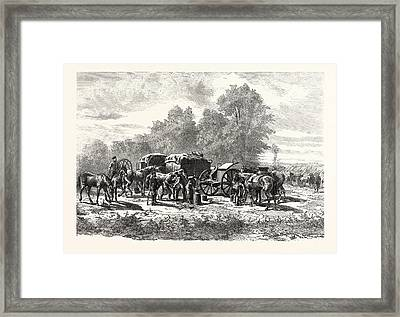 Franco-prussian War Field Smithy Or Forge Framed Print