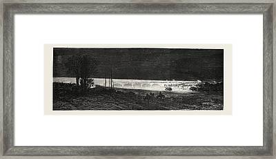 Franco-prussian War French Headlights Illuminating Framed Print