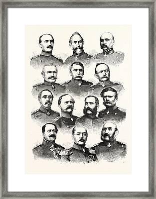 Franco-prussian War German Commanders Alvensleben Framed Print