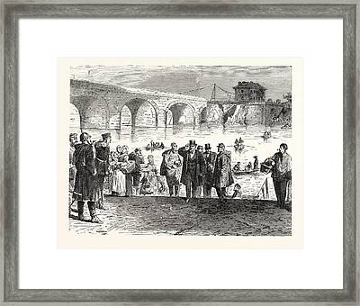 Franco-prussian War Jules Favre Lands During The First Week Framed Print by French School